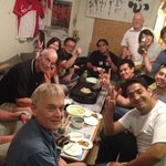 Okonomiyaki party at Hana Hostel Hiroshima. Really good fun organised by the staff