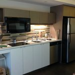 Fully equipped kitchen in our studio!