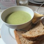 Stilton and broccoli soup - would recommend!