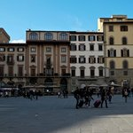 View from across the Piazza from the Loggia dei Lanzi