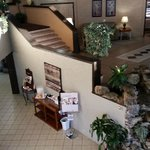 View of the lobby from mezzanine,  Coast Hotel Medicine Hat  |  3216 13th Ave SE, Medicine Hat,