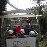 tram ride up to zip lining