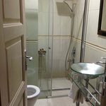 Nice clean bathroom with great shower