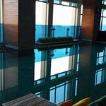 Pool located on high floor of the hotel