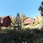 view of cabin 8 and motel room from gravel road