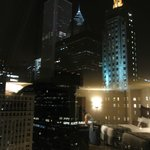Night city view from the room