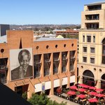 View of Mandela Square from Room Balcony