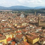 Beautiful view of Florence from the Bell Tower