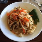 Red Curry Grilled Ahi with Brown Rice and Papaya Salad