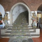 The staircase, nicely decorated