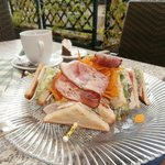 Lunch - Club sandwich.