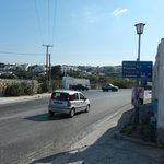 busy road at Vouniotis pension (pension to right of pic)