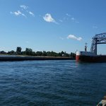 Canadian barge leaving Canal
