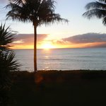 View of sunset from our lanai