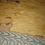 The wood that supported the mattress on the bed!