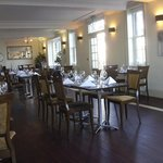 the restaurant, bright and airy