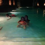 Night swimming at the pool