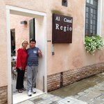 Welcome Entrance to Al Canal Regio hotel, Venice, Italy