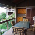 Balcony with outdoor kitchen. Unit 2603.