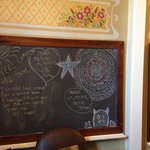 Blackboards on the wall inside room