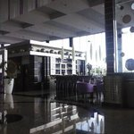 Lobby and bars are purple, but very tasteful