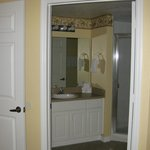 One of the bathrooms.  The Master bath has a large tub.
