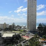 Surfer Paradise beach from Bed Room