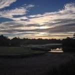 Early morning along one of the golf courses.