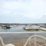 View of the marina from the deck.