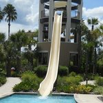 Marriott world hotel water slide