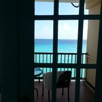 Ocean view from inside room