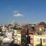 View of Blue Mosque, from rooftop terrace