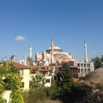 View of Hagia Sophia, from rooftop terrace