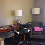 Desk area of suite
