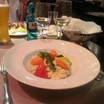 Tasty risotto with pfifferlingen (wild mushrooms)