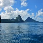 The islands famous Pitons
