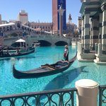 Gondola rides and the front of the hotel