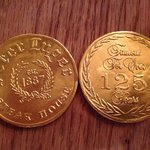 """gold """"coins"""" chocolate completes"""