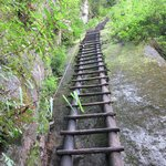Ladders on Putucusi Mountain hike