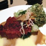 Blackened Island Ahi: Spicy Soy Mustard Butter Sauce
