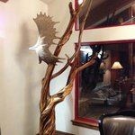Eagle sculpture from moose antler