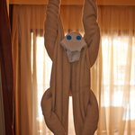 Monkey made from towels!