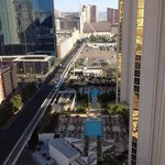 View of pool 2-3, and the monorail taken from our balcony