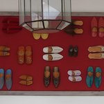 loved this decor made from traditional shoes