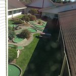 Miniature golf area