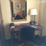 Ancient office desk, chair and mirror