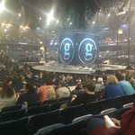 Before Garth Brooks concert started. Section 110, row f, seat 21