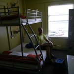 Our private room.  The bottom bunk is full or queen-sized.