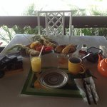 Beginning of breakfast spread...what followed was a nice omelette