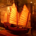 Miniature replica of an old Chines trading vessel